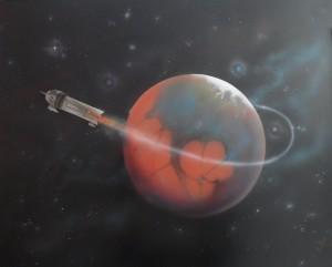 Flash gordon leaving Mars