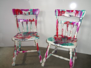 Painted Chair series 1 front