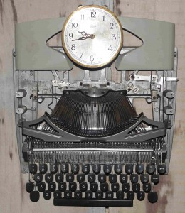 typewriter clock